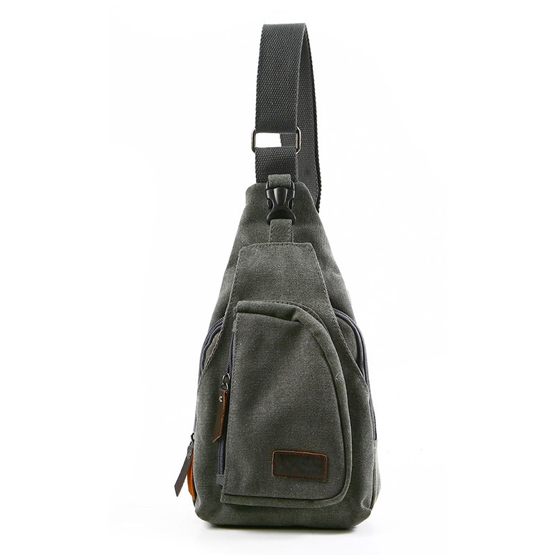 Men's Canvas Military Messenger Shoulder Travel Bags Hiking ...