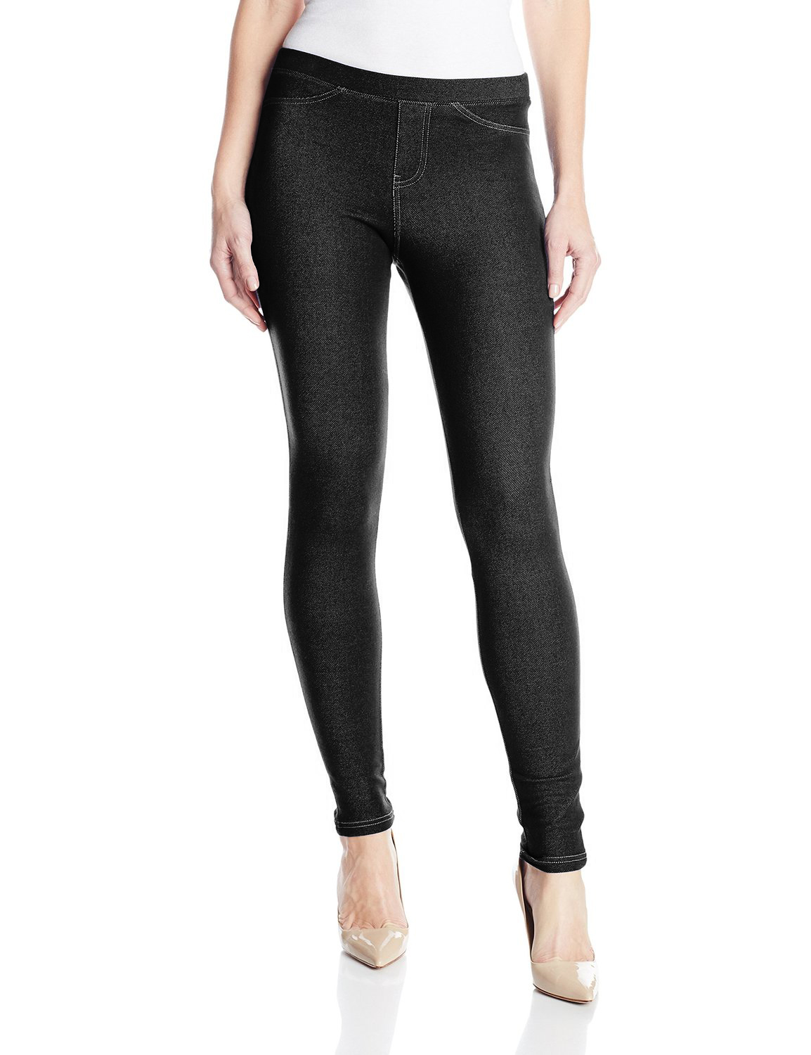 Jeggings, on the other hand, are leggings that are designed to look like skinny denims. Unlike leggings that are commonly used to refer to stretchable slacks, 'jeggings' is a patent name registered by Turkish textile company ISKO who are also original producers of jeggings.