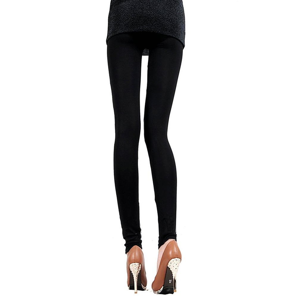 Unique Pants PU Leather Leggings Sexy Women Shiny Faux Leather Stretch Tight