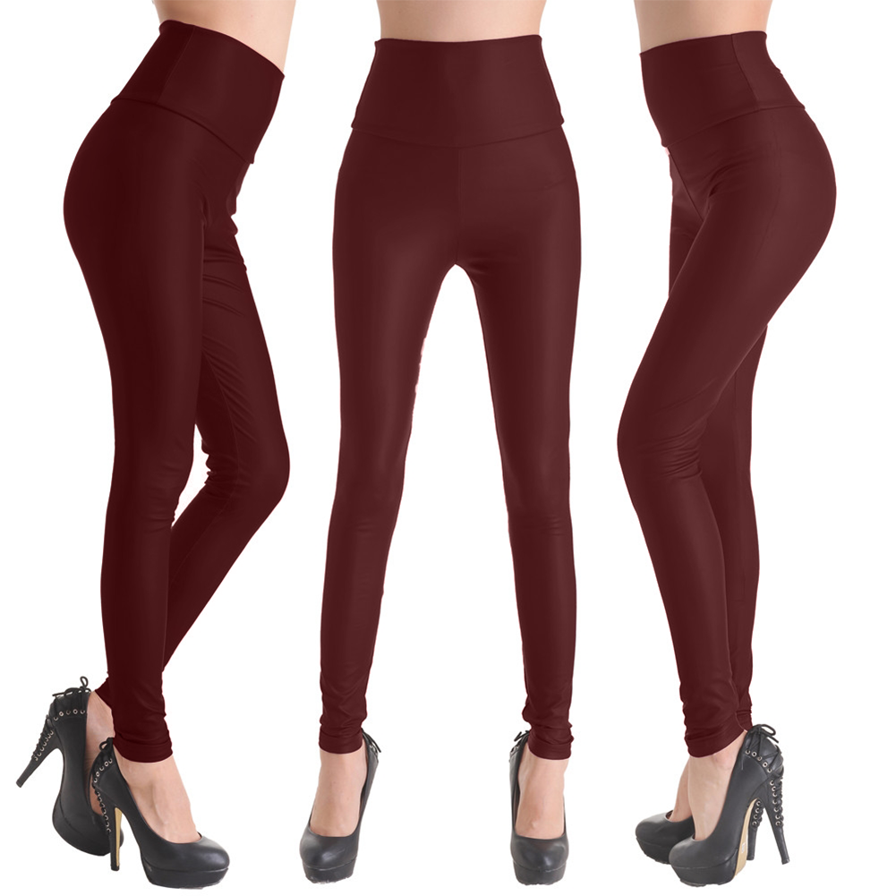 Popular Women S Fashion Women S Leather Pants Female Trousers Tight PU Leather