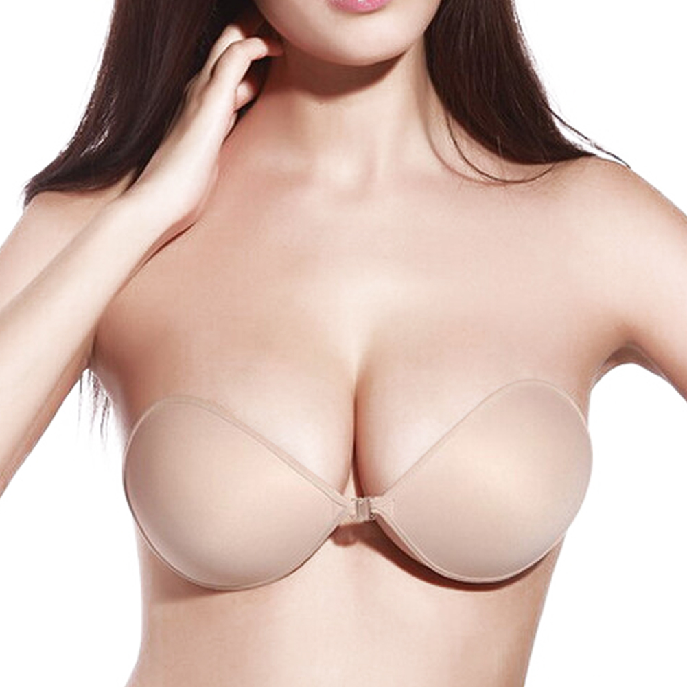 Women Sexy Invisible Bust Silicone Self-Adhesive Push up Backless ...