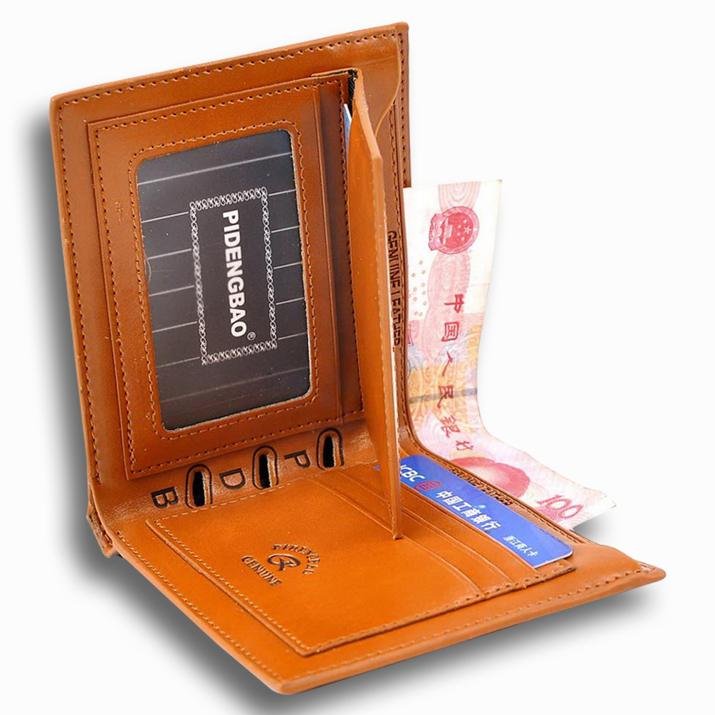 Pidengbao New Fashion Mens Leather Bifold Clutch Credit Card Holder Wallet Purse Ebay