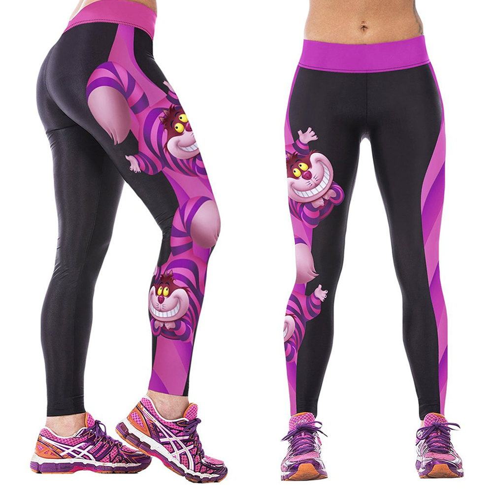 Womens Leggings Yoga Sports Athletic Fitness Stretch: Women Yoga Sport Pants Gym Workout Print Stretch Leggings